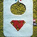 Bavoir personnalisé logo super héros (20 euros)