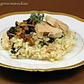 Risotto aux champignons sauvages et foie gras