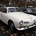 Volkswagen type 14 1600 Karmann Ghia coupe 1955  1970, Retrorencard 2011 