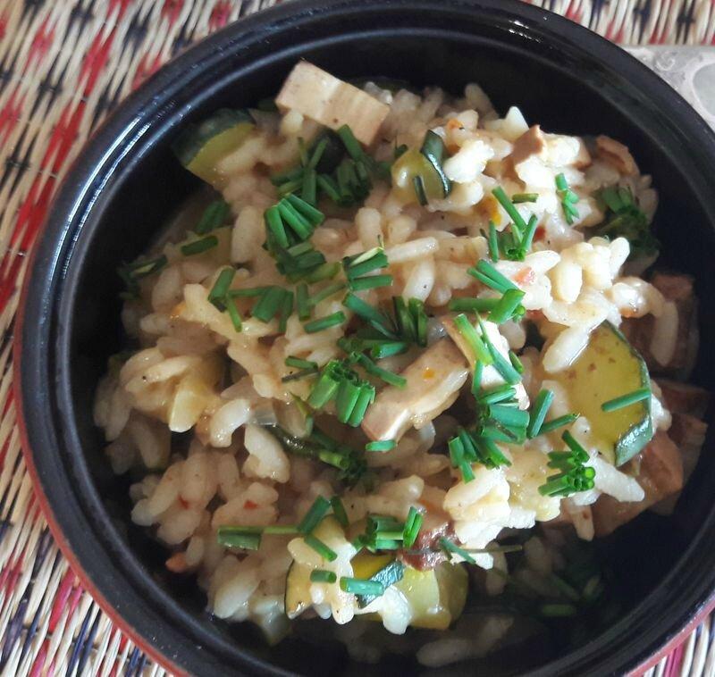 risotto courgette-tofu fumé (2)