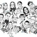 Caricature d'une Famille