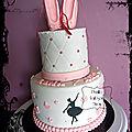 Gateau à étages - danse classique - ballet cake