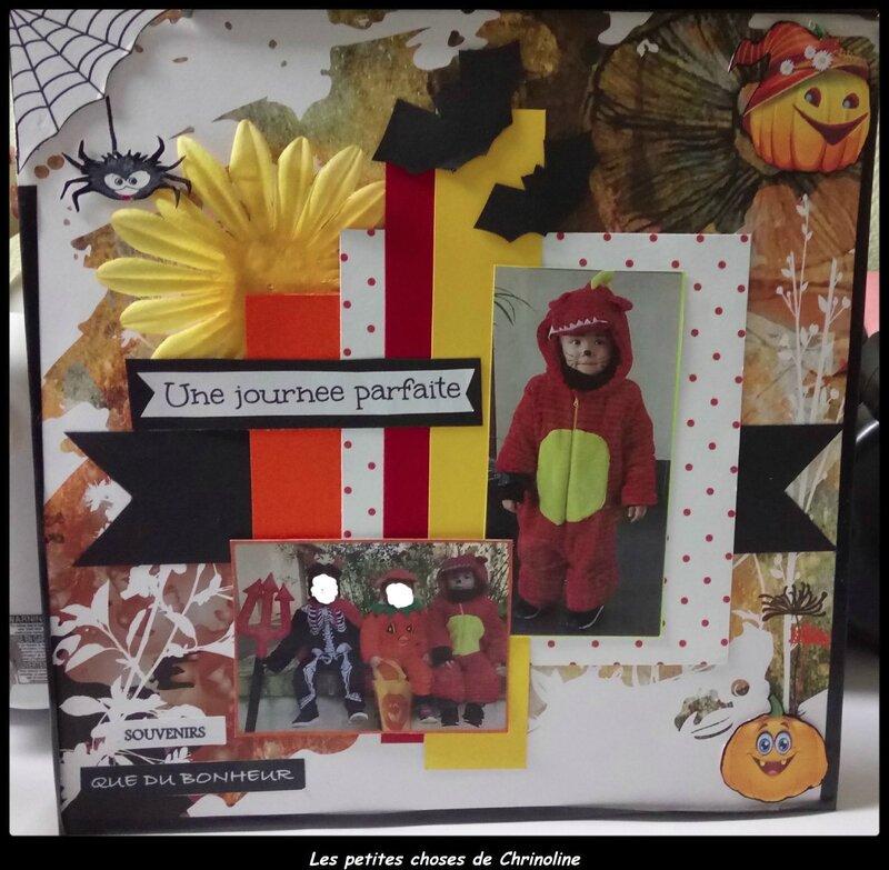 page Halloween enfants floutés