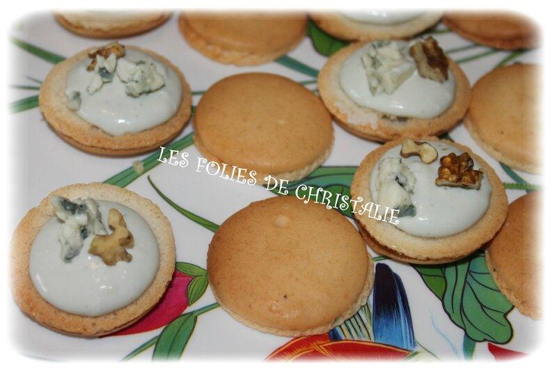 Macarons roquefort noix 4