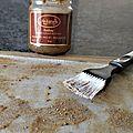 Croustillant de chèvre pommes amande miel et romarin