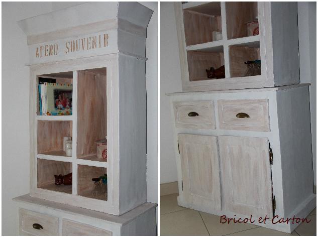 Meuble en carton bahut style maison de famille bricol et carton - Maison de famille meubles ...