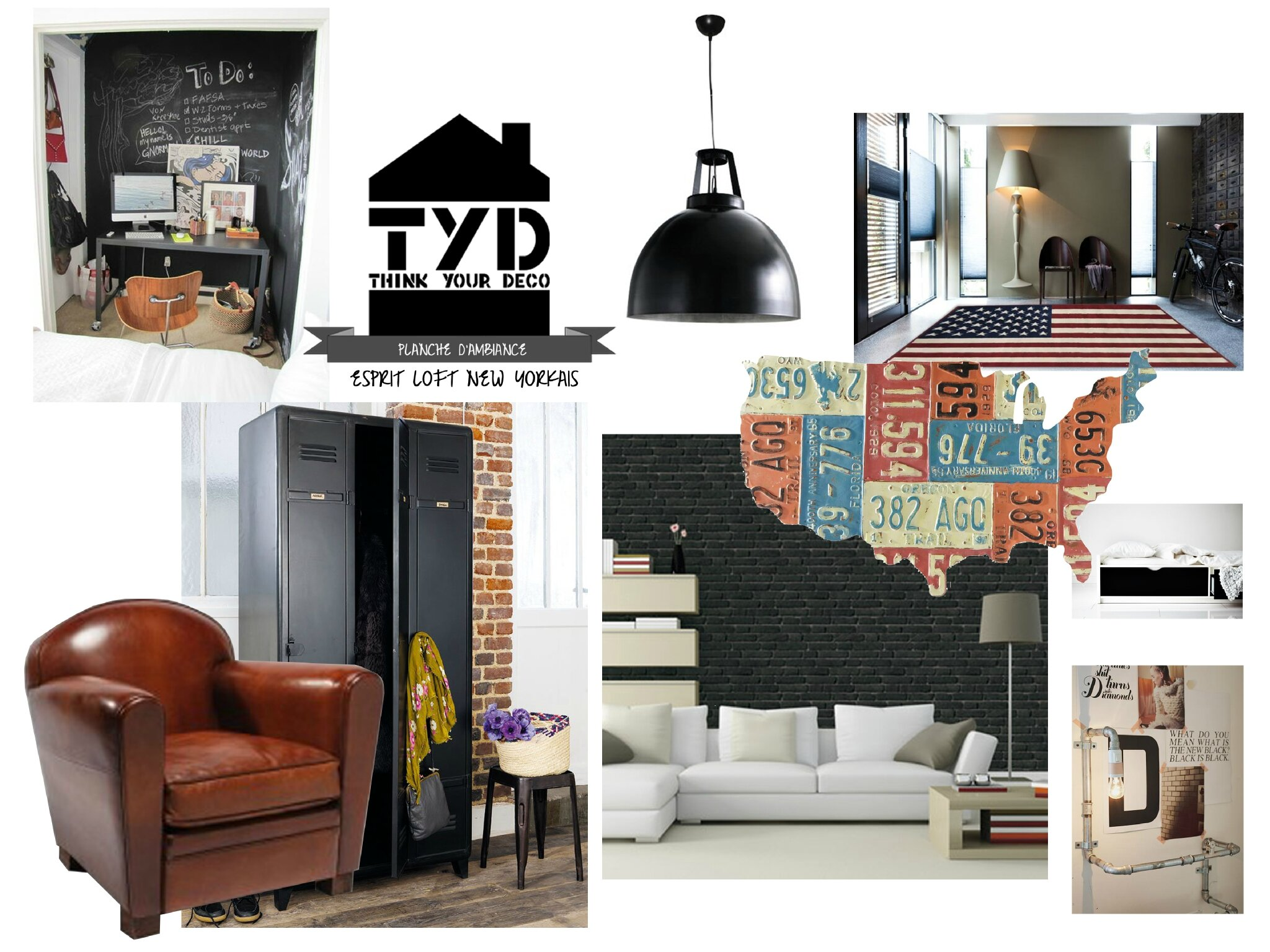 chambre style loft new yorkais. Black Bedroom Furniture Sets. Home Design Ideas