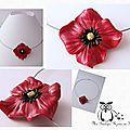 Collier inspiration coquelicot