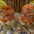 coupes de fruits de mer ,poisson fum , crudits 