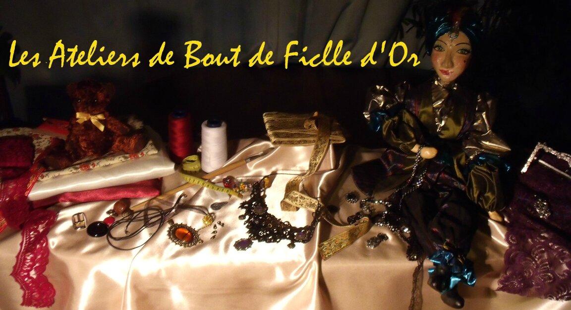 """LE FACEBOOK DU BLOG DE BROCELYANDE """"Les ateliers de bout de ficelle d'or"""""""