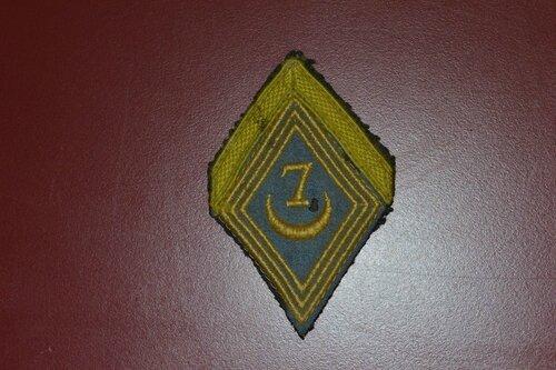 7e RTA losange de bras de soldat de première classe