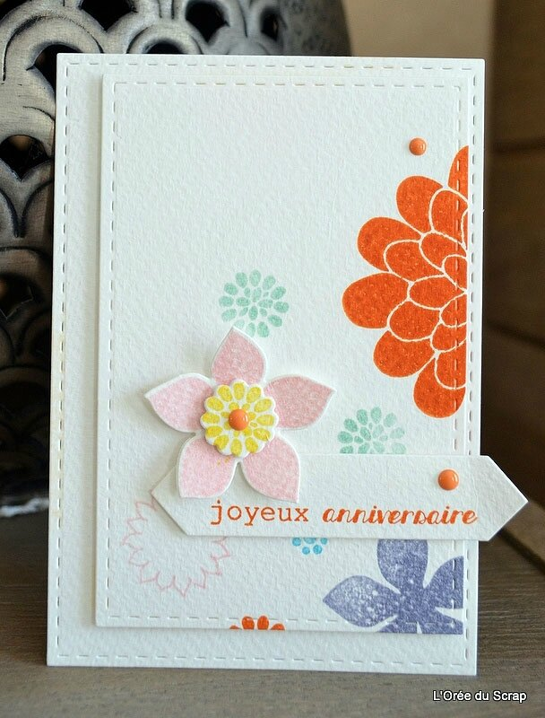 carte stampin up blogorel fleurs