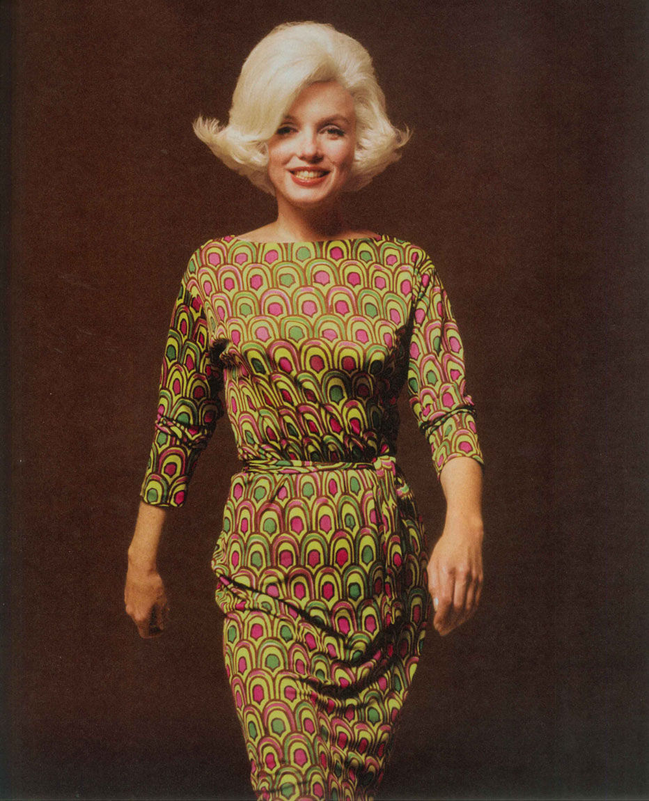 Marilyn Monroe Green Emilio Pucci Dress PUCCI Robe imprime