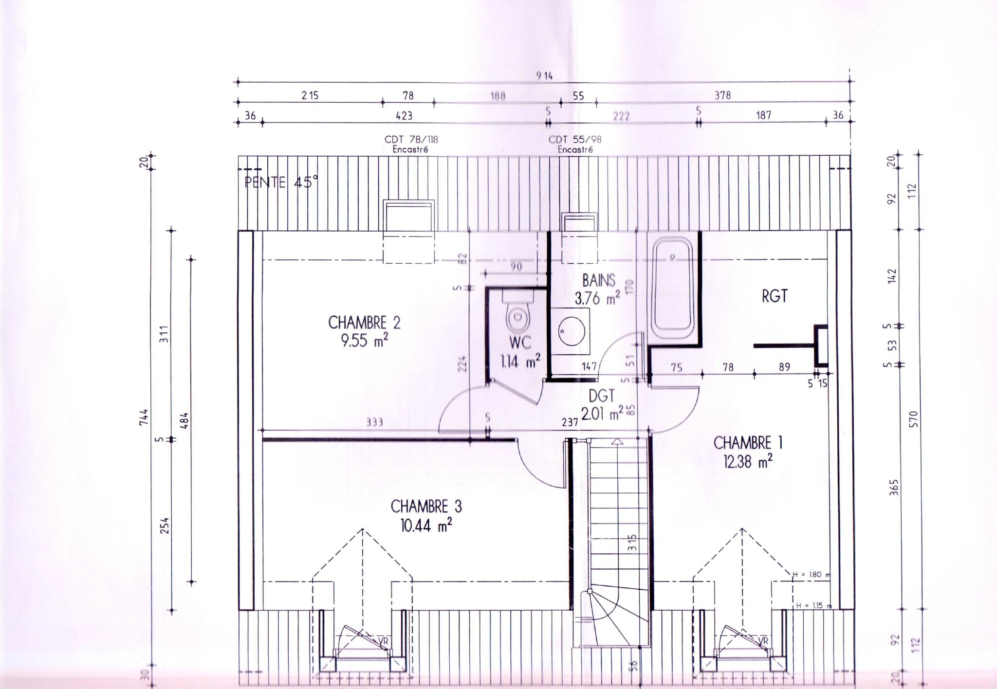 Les plans int rieurs de la maison notre maison le r ve for Modele maison familiale