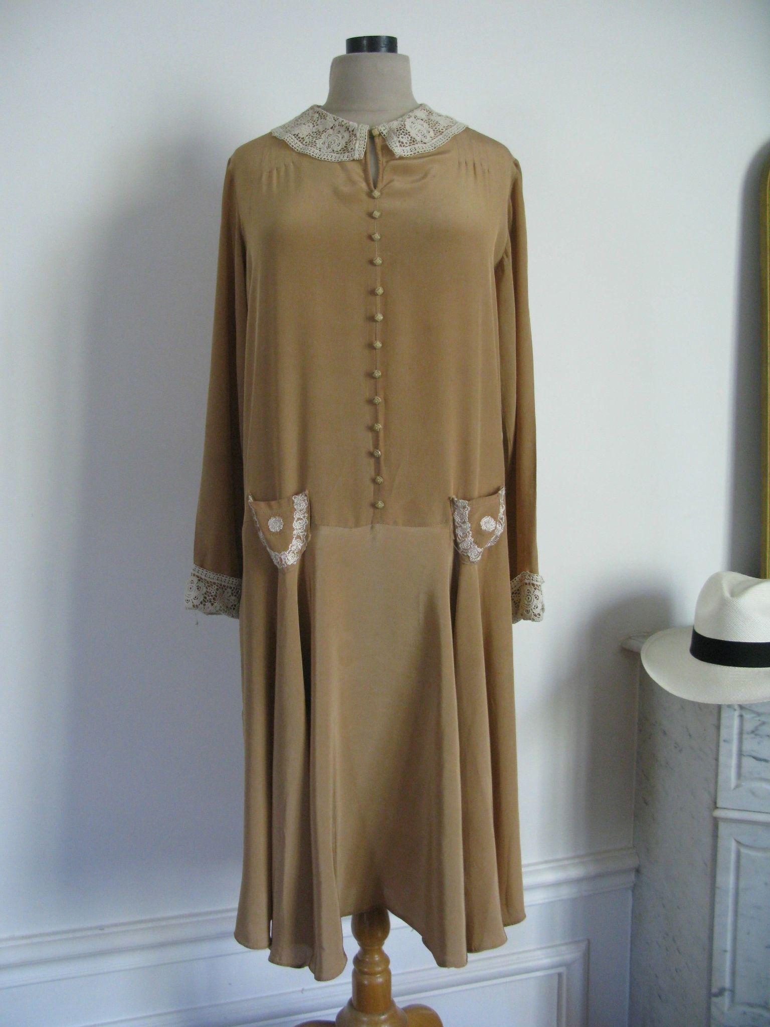 2016 exceptionnelle robe d 39 poque ann es 20 30 taille 38 40 les jolies robes. Black Bedroom Furniture Sets. Home Design Ideas