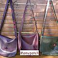 3 sacs besace simili cuir