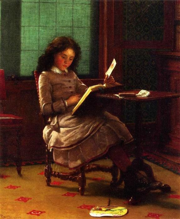 Seymour_Joseph_Guy_1877 Young_Girl_Reading