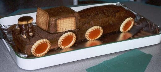Le gâteau train de Mame
