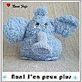 Serial Crocheteuse 157 : L'histoire de l'lphant bleu au crochet qui n'avait plus faim...