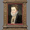 Ecole française vers 1580, suiveur de jean clouet dit jeanet, portrait d'elisabeth d'autriche, femme de charles ix.