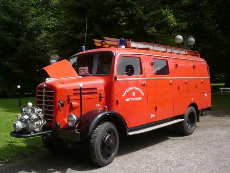BORGWARD LF8 véhicule d'incendie carrossé par Metz 1960 Bad Herrenalb (1)
