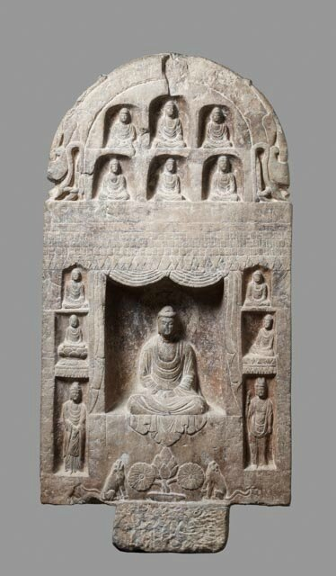 Stele, China, Wei dynasty, 6th c