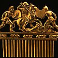 Scythian culture, comb with battle scene, 490-390 bc