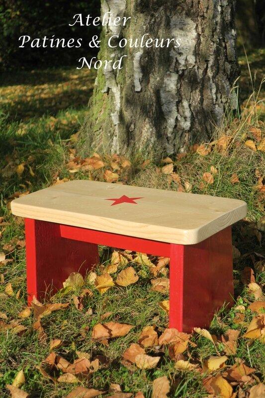 petit banc rouge 2