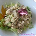 Entre - Salade thon-riz-avocat