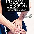 Private lesson de samanthe beck