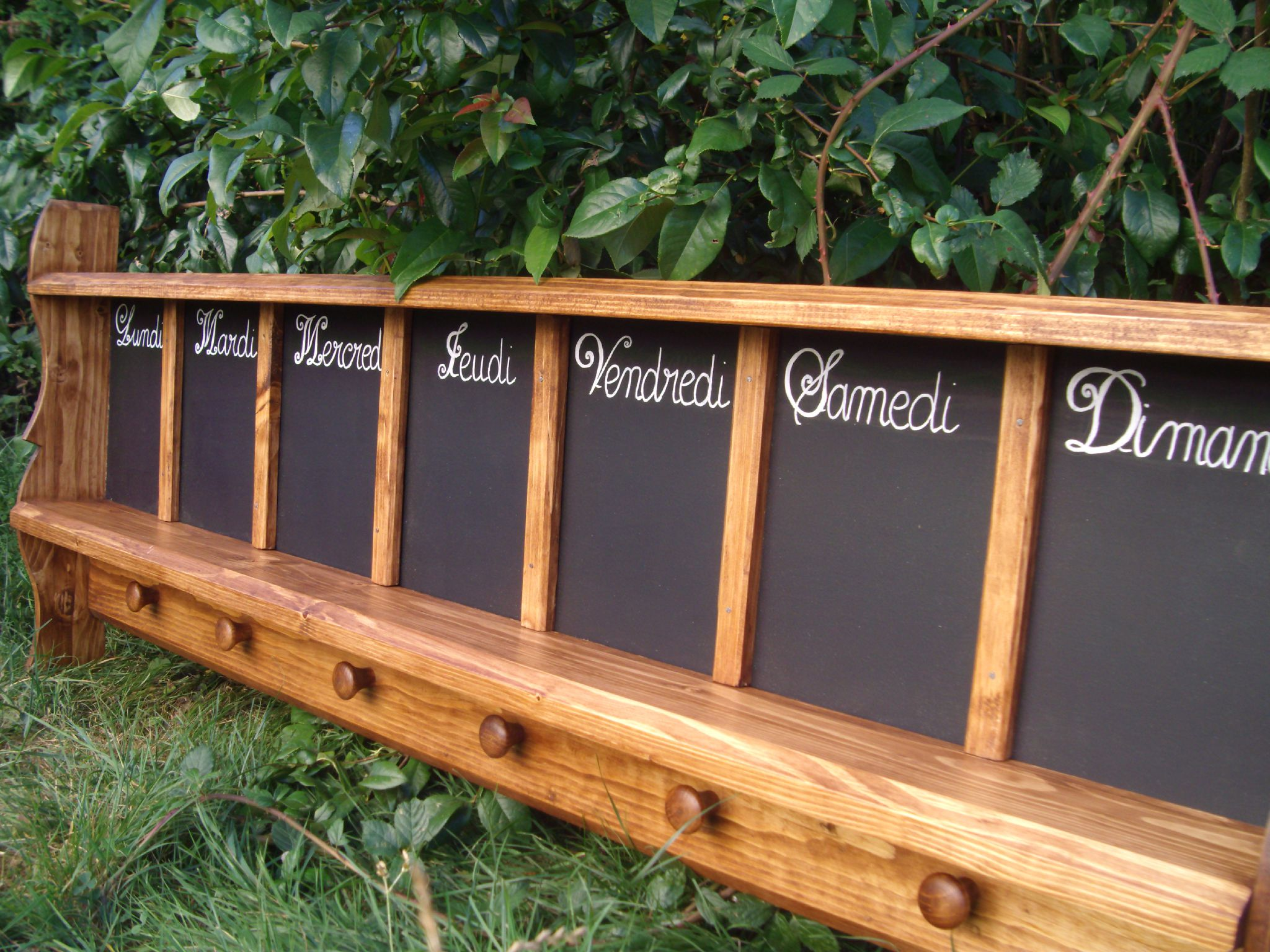 semainier ardoise cuisine tableau mmo couleur chneporte - Semainier Bois Et Ardoises