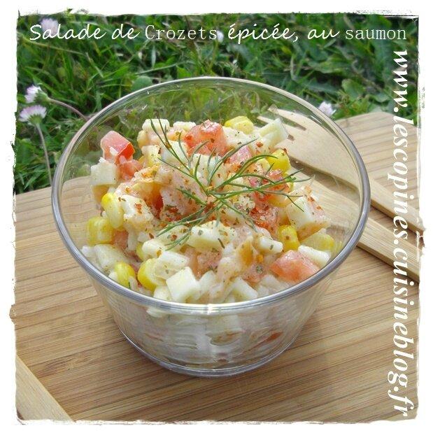 Salade de Crozets épicée, au saumon.