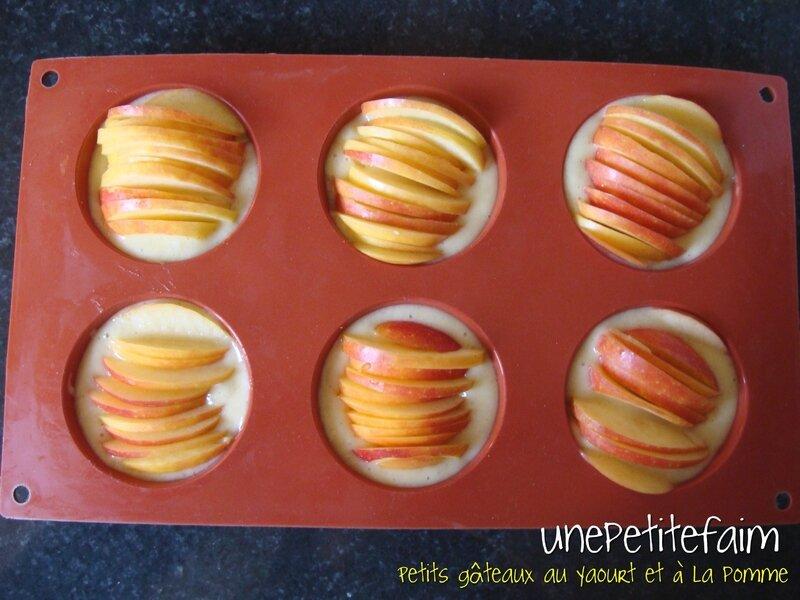 Petits gâteaux yaourt et pomme - avant cuisson