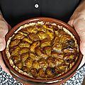 Tarte aux mirabelles (pâte brisée sans beurre)
