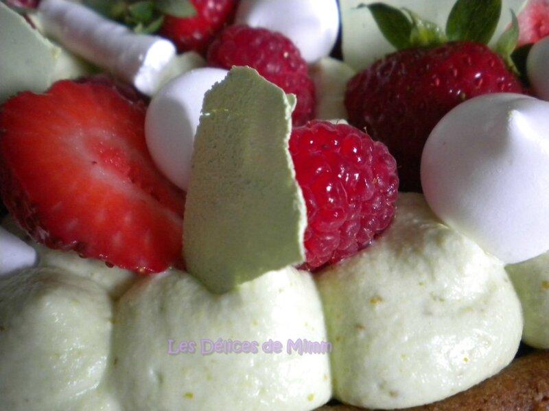 Gâteau aux fraises, framboises et pistaches façon FantastiK 7