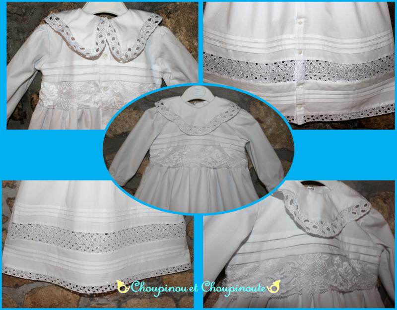 robe baptême détails