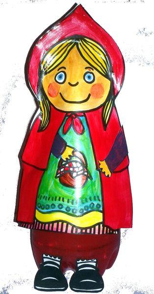 95_Personnages Animaux Monstres_Le petit chaperon rouge (21sans fond)