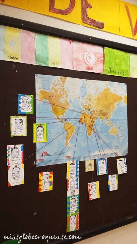 mappemonde portrait de classe- r+c