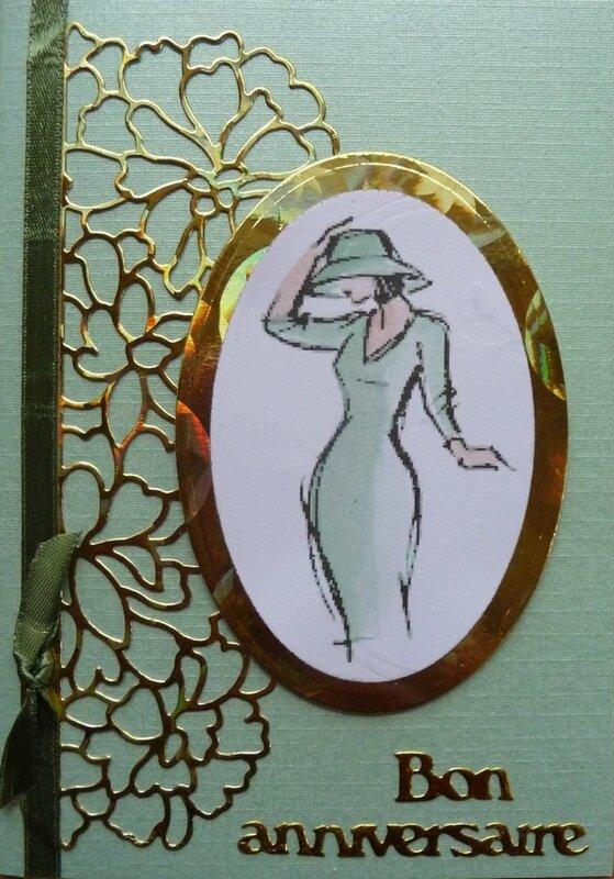 Carte à la dame au chapeau