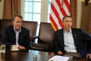 Boehner-and-Obama fiscal cliff negociations