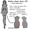 Fiche technique - gather drape dress