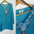 H&m bib top voile turquoise inspiration indienne