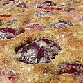 Clafoutis aux cerises et  la fraise