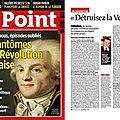Le génocide vendéen à la une du magazine « le point »