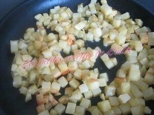 Poêlée de pommes de terre sautées à l'émincé de poulet et emmental07