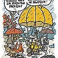 Spirouterie sous la pluie