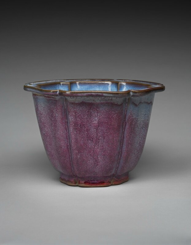 Lobed Flowerpot with Foliate Rim, Ming dynasty, 1368-1644, probably 15th century (1)