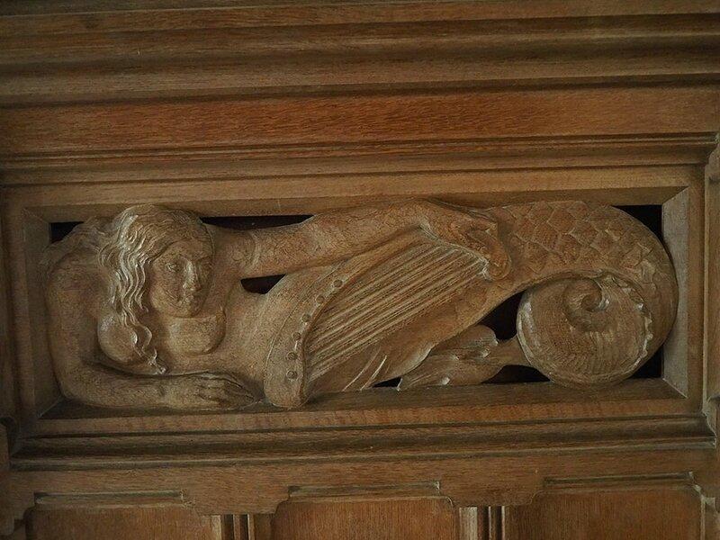 Sirène à la harpe Pierrefonds (Oise)