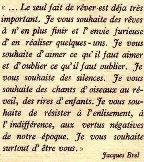 Vœux Jacques Brel