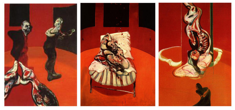 Francis Bacon   224  la Tate BritainCrucifixion Francis Bacon 1965